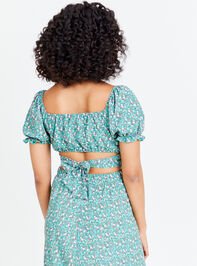 Dainty Floral Top - Teal Detail 2 - Altar'd State