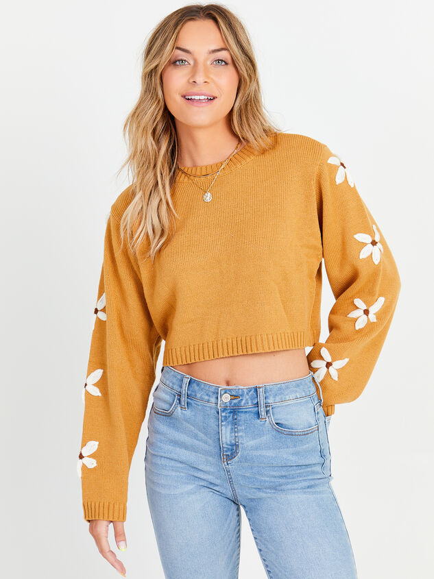 Daisy Cropped Sweater - Altar'd State