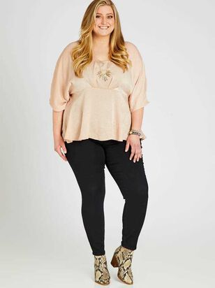 Waist Smoothing Skinny Jeans - Black - Altar'd State