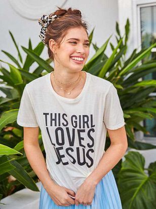 This Girl Loves Jesus Top - Altar'd State
