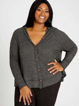 Dreamin' In Thermal Cardigan Top - Altar'd State