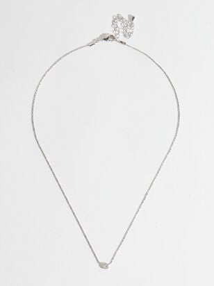 Dainty Chanel Charm Necklace - Silver - Altar'd State
