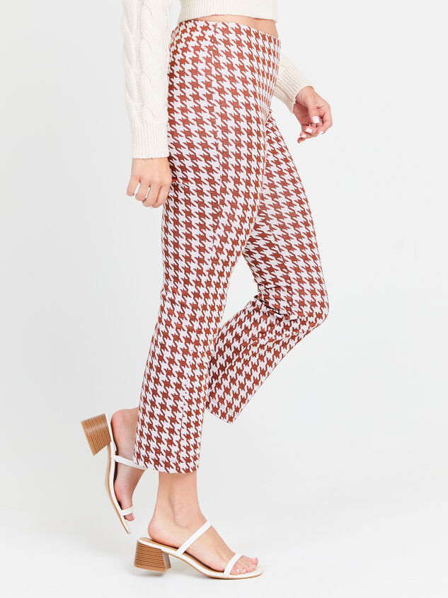 Houndstooth Kick Flare Pants Detail 2 - Altar'd State