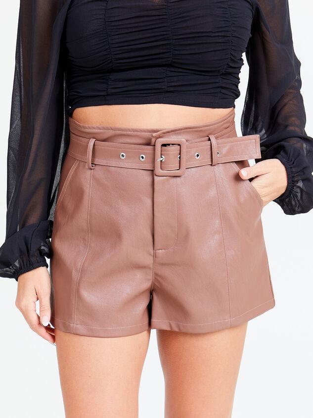 Austin Vegan Leather Shorts - Altar'd State