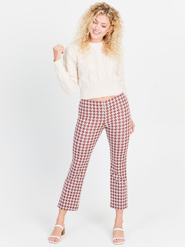 Houndstooth Kick Flare Pants Detail 4 - Altar'd State