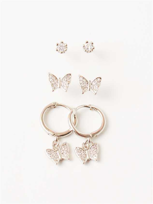 Tiny Flutterby Earring Set - Altar'd State