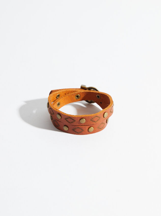 Western Wrap Leather Bracelet Detail 2 - Altar'd State