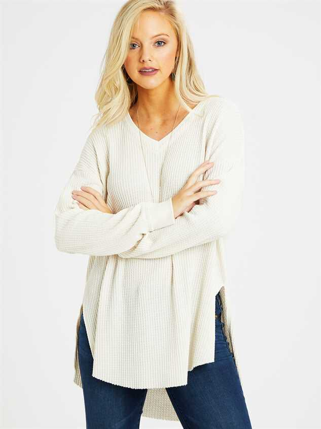 Dreamin' in Thermal Tunic Top Detail 2 - Altar'd State