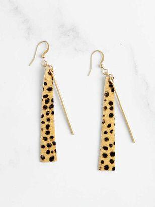 Cheetah Bar Earrings - Altar'd State