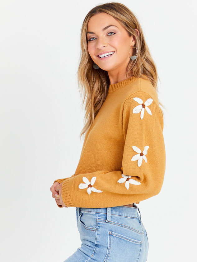 Daisy Cropped Sweater Detail 2 - Altar'd State