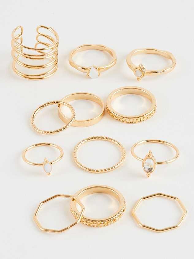 Lovin This Dozen Ring Set - Altar'd State