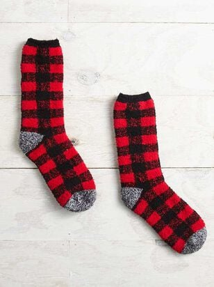 Buffalo Plaid Cozy Socks - Altar'd State
