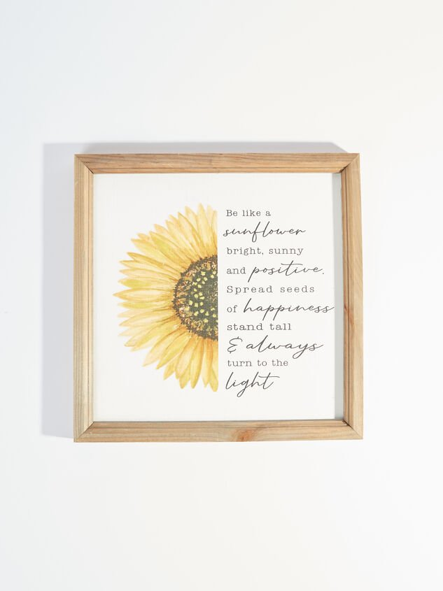 Be Like a Sunflower Wall Art - Altar'd State