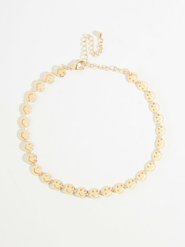 Gold Smiley Face Choker - Altar'd State