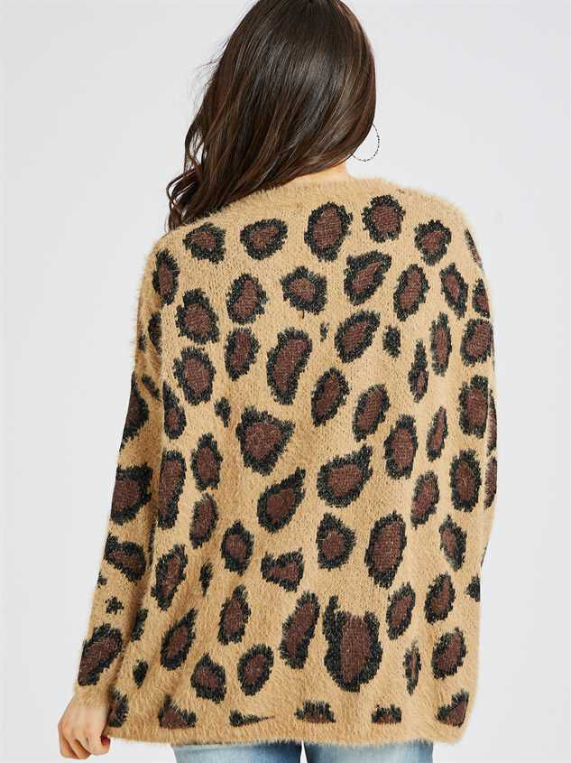 Leopard Pullover Sweater Detail 4 - Altar'd State