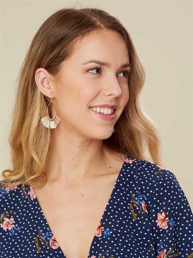 Tickled Tassel Earrings Detail 3 - Altar'd State