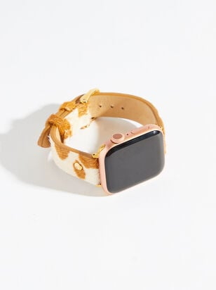 Leather Smart Watch Band - Cow Print - Altar'd State