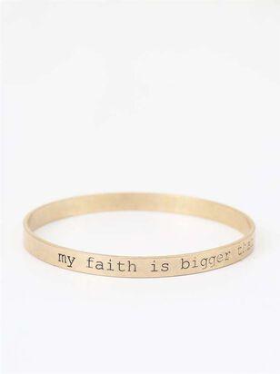 Faith Bigger Than Fear Bangle Bracelet - Altar'd State