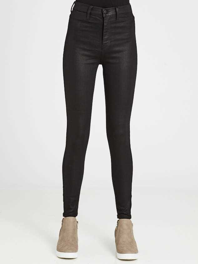 Coated Skinny Jeans Detail 2 - Altar'd State