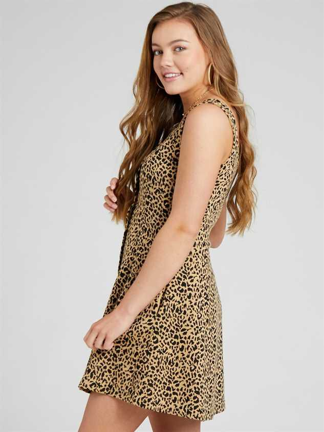 Lula Leopard Dress Detail 3 - Altar'd State