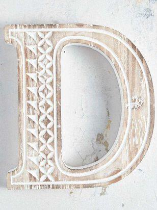 Wooden Monogram Letter Block - D - Altar'd State