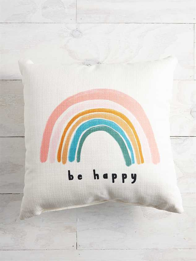 Be Happy Pillow - Altar'd State