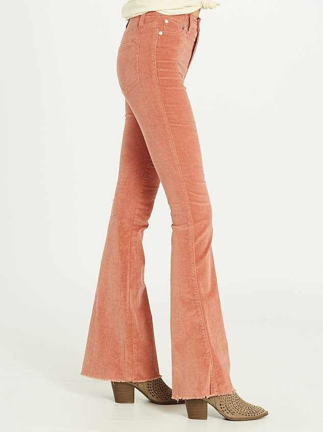 Sienna Cord Flare Pants Detail 4 - Altar'd State