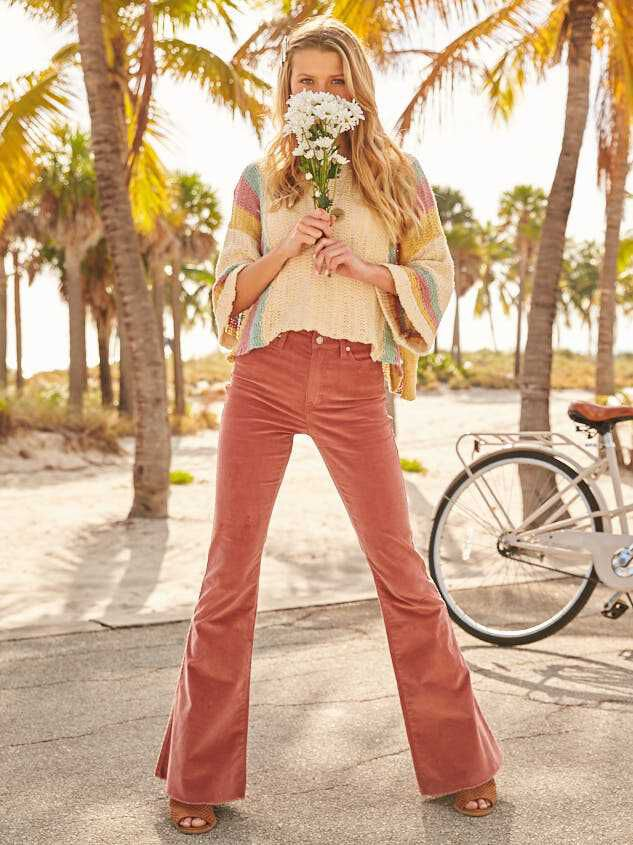 Sienna Cord Flare Pants - Altar'd State