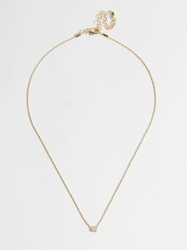 Dainty Chanel Charm Necklace - Gold Detail 2 - Altar'd State