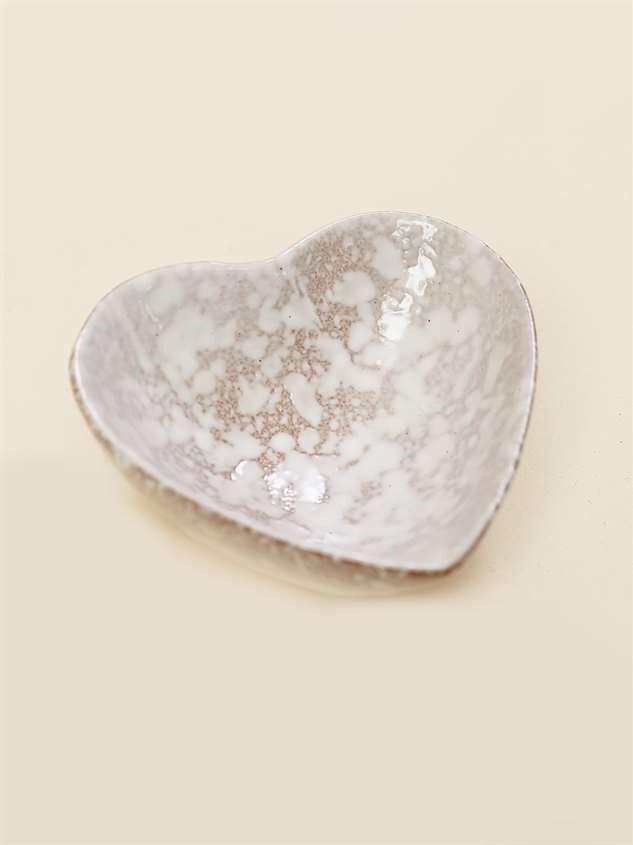 Stoneware Heart Trinket Dish Detail 2 - Altar'd State