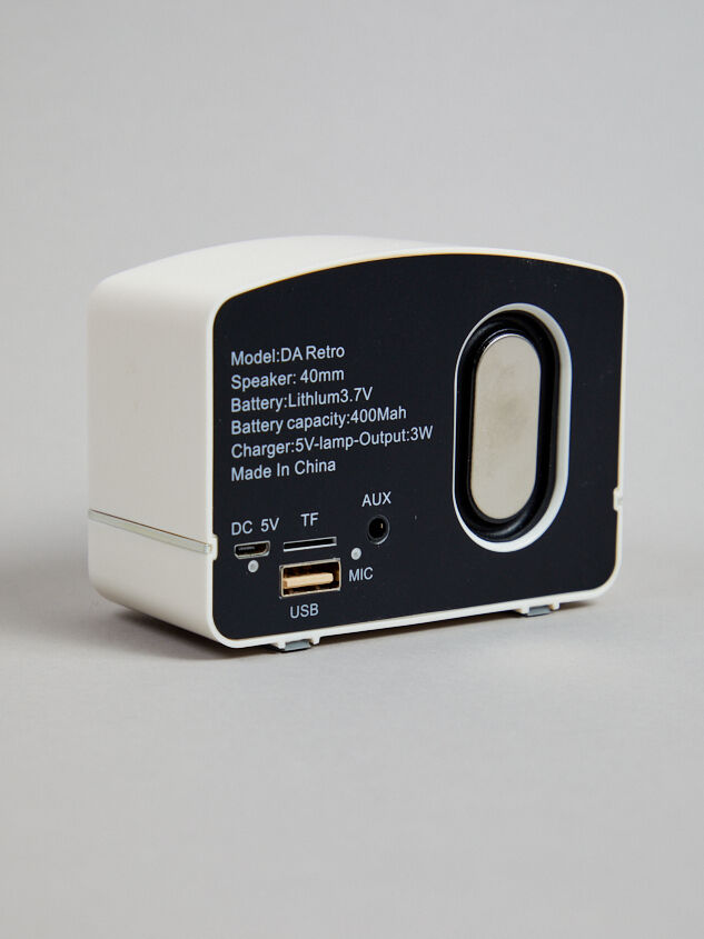 Retro Bluetooth Speaker Detail 2 - Altar'd State