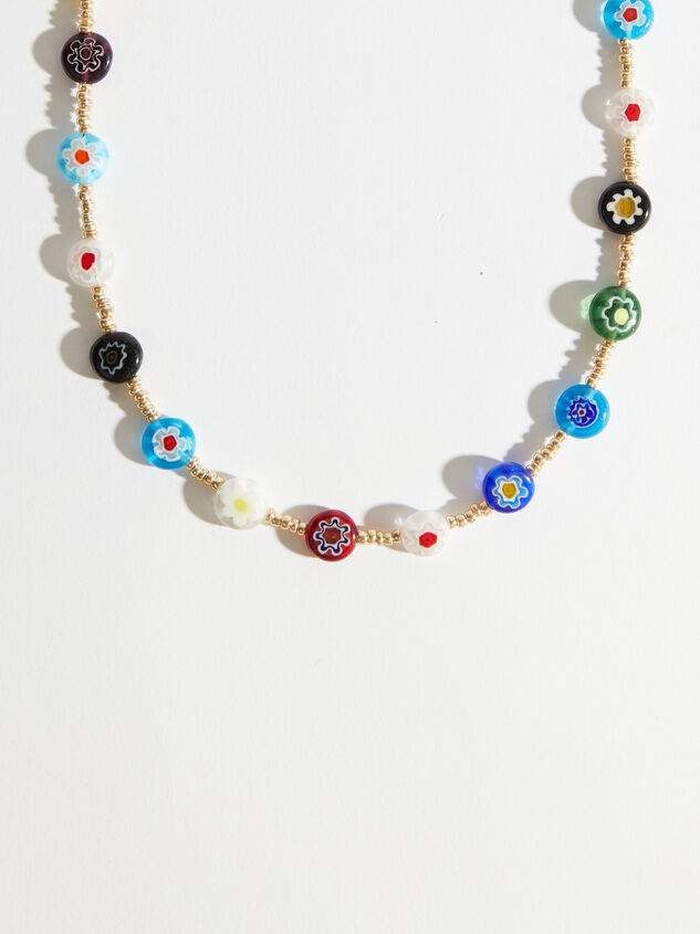 Flower Power Beaded Choker Necklace Detail 2 - Altar'd State
