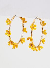 Wire Wrapped Flower Hoop Earrings - Altar'd State
