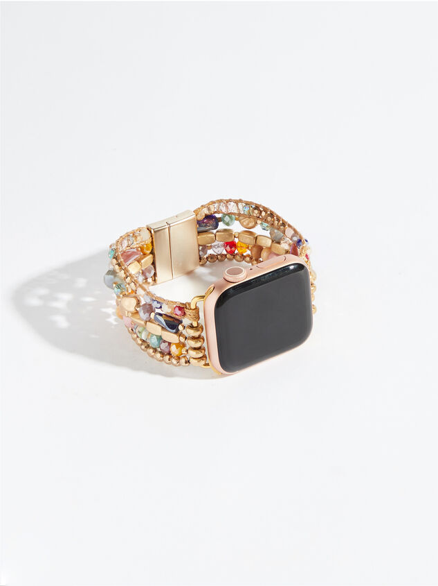 Colorful Beaded Smart Watch Band Detail 2 - Altar'd State