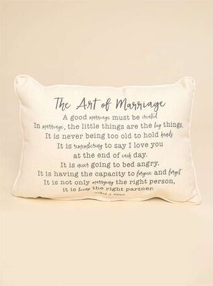 The Art of Marriage Pillow - Altar'd State