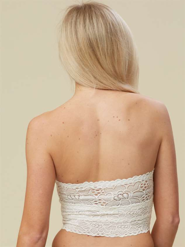 Sweetheart Bandeau - White Detail 4 - Altar'd State