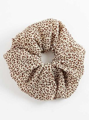 Leopard Pleated Super Scrunchy - Altar'd State