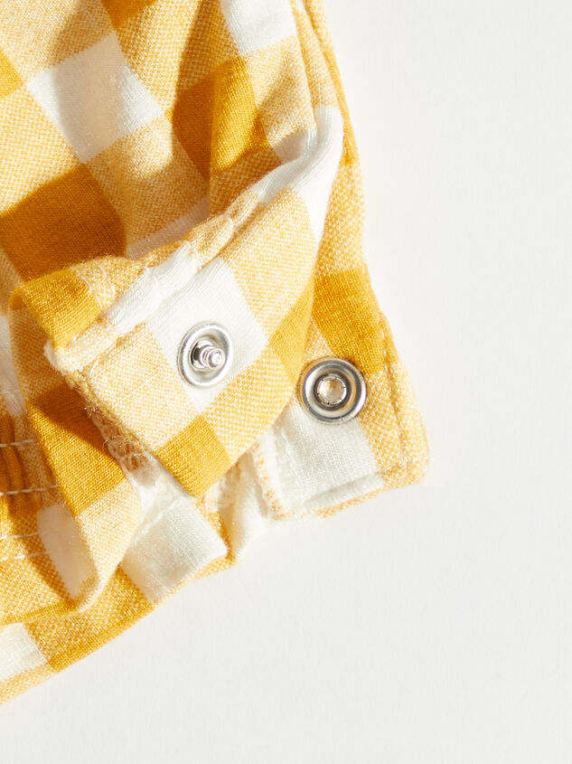 Tullabee Yellow Gingham Coverall Detail 3 - Altar'd State
