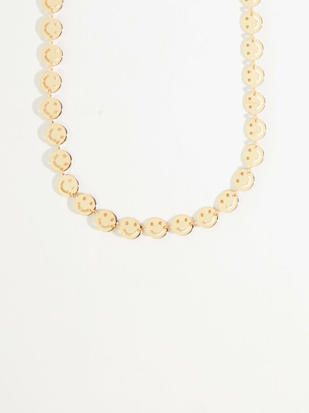 Gold Smiley Face Choker Detail 2 - Altar'd State