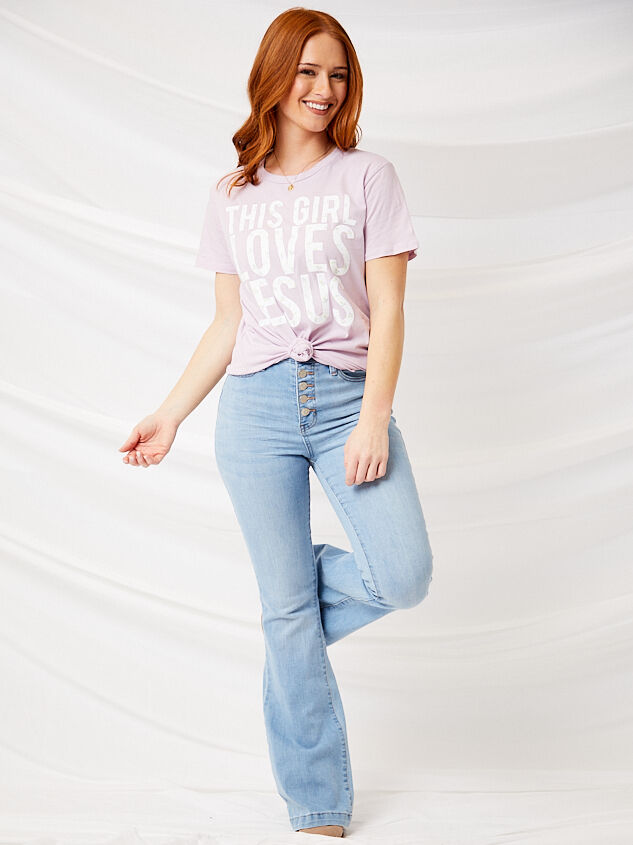 Crazy in Love Flare Jeans Detail 2 - Altar'd State
