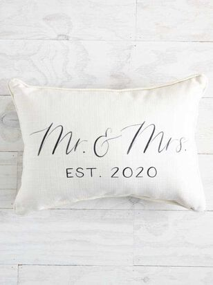Mr. & Mrs. 2020 Pillow - Altar'd State