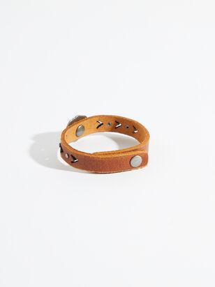 Western Buckle Leather Bracelet - Altar'd State