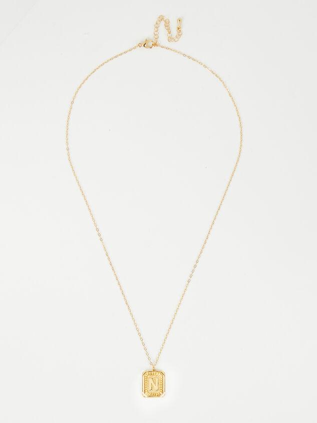 Burst Tag Monogram Necklace - N Detail 2 - Altar'd State