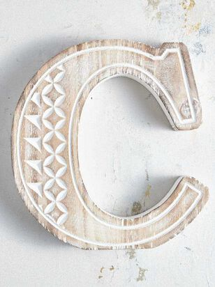 Wooden Monogram Letter Block - C - Altar'd State