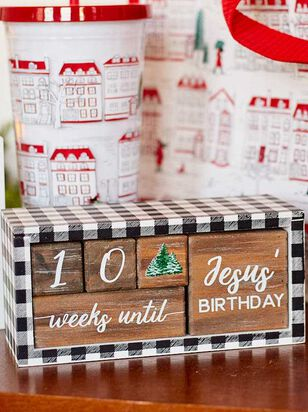 Plaid Christmas Count Down Block - Altar'd State