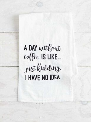 Day Without Coffee Hand Towel - Altar'd State