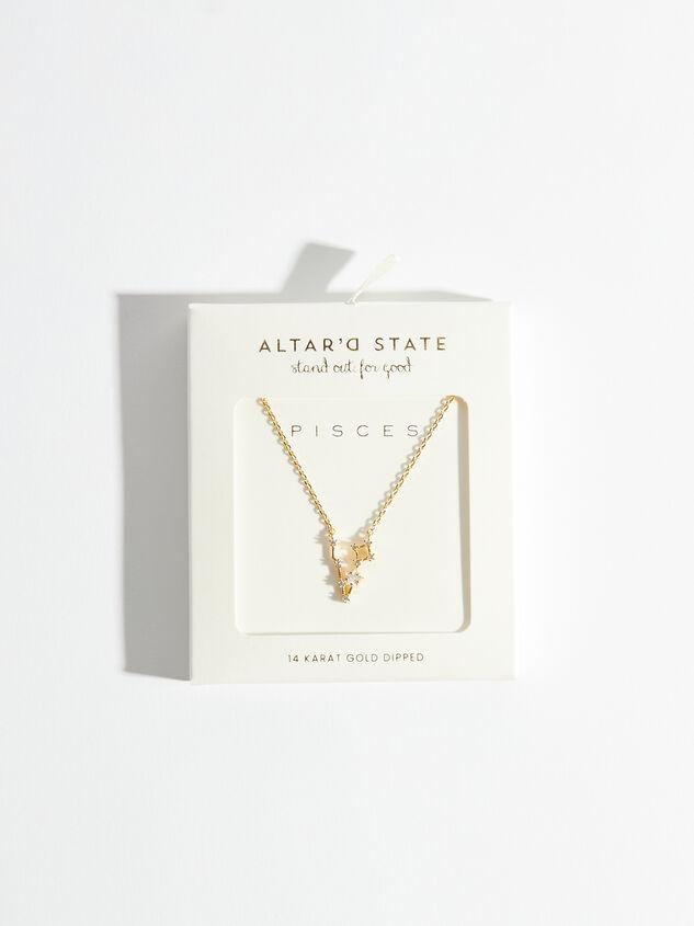 Zodiac Charm Necklace - Pisces Detail 3 - Altar'd State