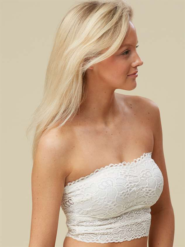 Sweetheart Bandeau - White Detail 3 - Altar'd State