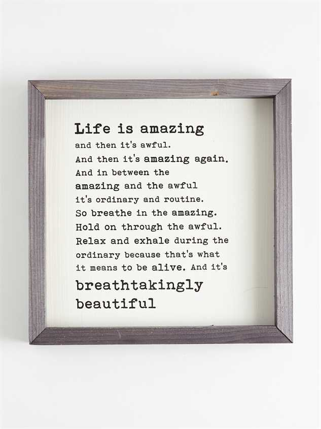 Life is Amazing Wall Art Detail 1 - Altar'd State