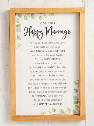 Happy Marriage Sign - Altar'd State